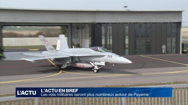Les vols seront plus nombreux autour de la base de Payerne
