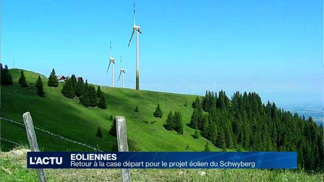 Éolien: retour à la case départ pour le projet du Schwyberg
