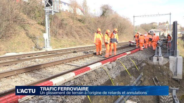 Un glissement de terrain retarde certains trains vaudois