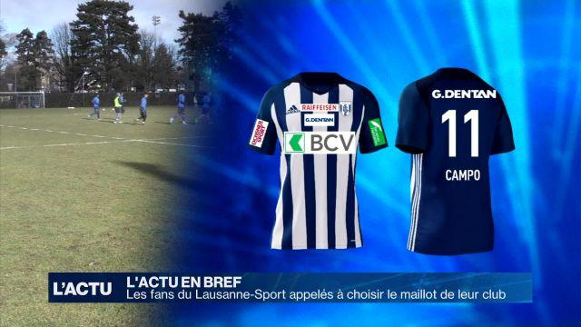 Sondage en ligne pour choisir le maillot du Lausanne-Sport