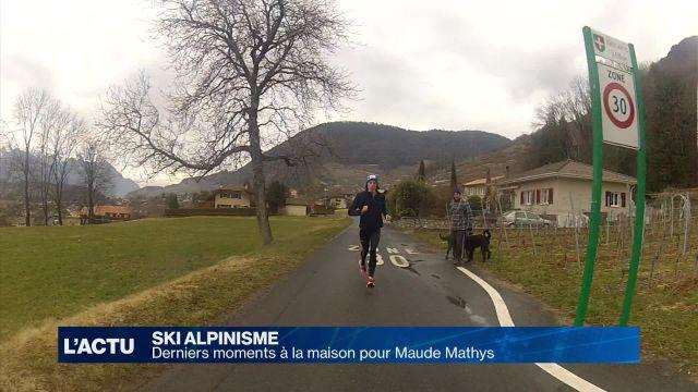 Ski-alpinisme: Derniers moments à Ollon/VD pour Maude Mathys