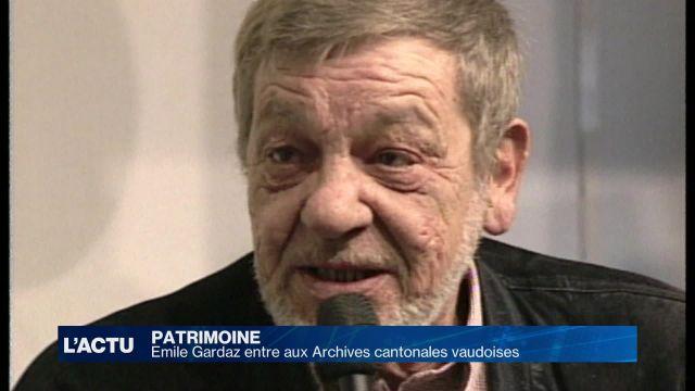 Emile Gardaz entre aux Archives cantonales vaudoises
