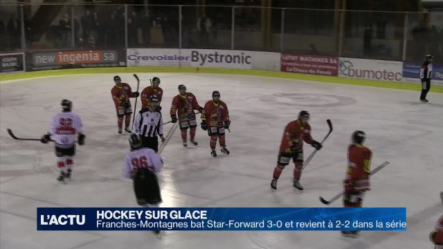 Le HC Star-Forward rentre battu 3-0 de Franches-Montagnes