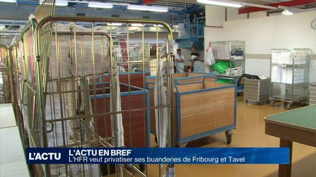 L'HFR veut privatiser ses buanderies de Fribourg et Tavel