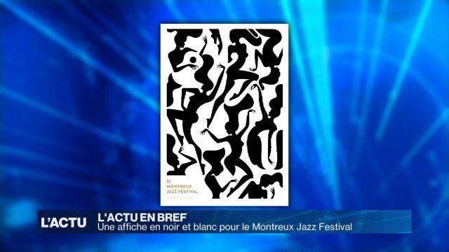 Une affiche en noir et blanc pour le Montreux Jazz Festival