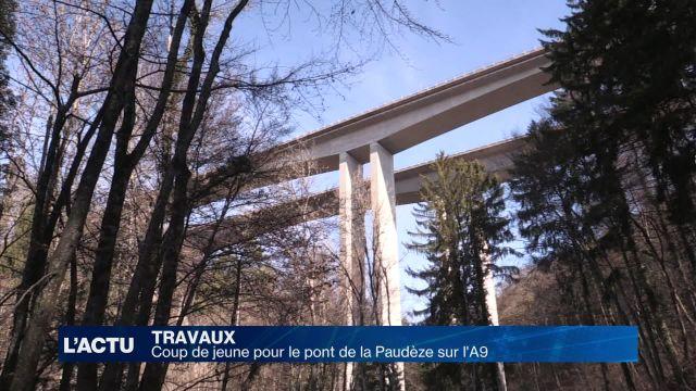 Coup de jeune pour le pont de la Paudèze