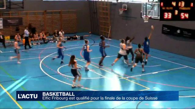 Basket: Elfic FR qualifié pour la finale de la coupe suisse