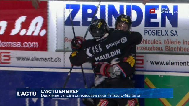 Deuxième victoire consécutive pour Fribourg-Gottéron