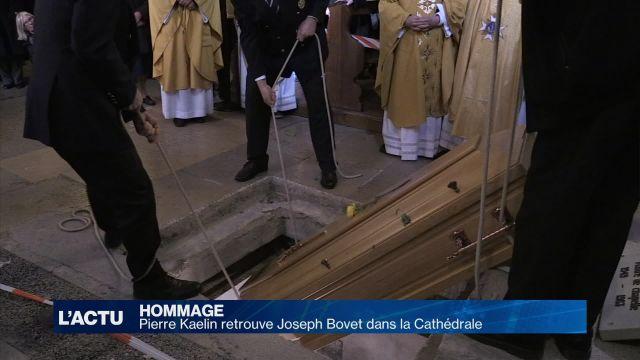L'abbé Kaelin rejoint l'abbé Bovet dans la Cathédrale
