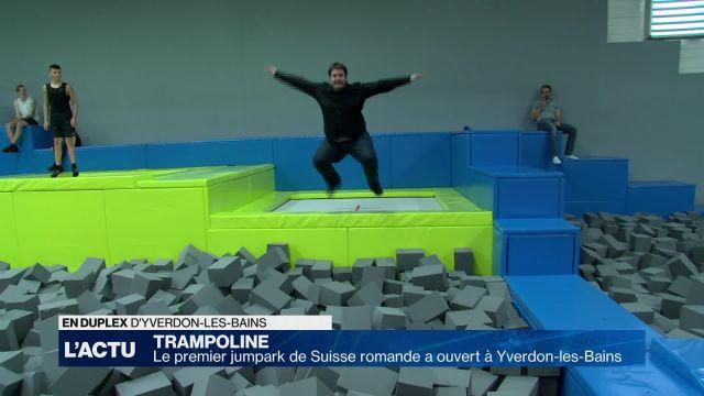 Le premier jumpark de Suisse a ouvert à Yverdon-les-Bains