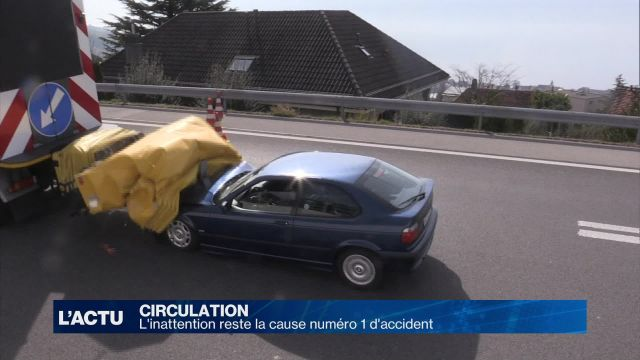L'inattention reste la cause numéro 1 d'accident de la route