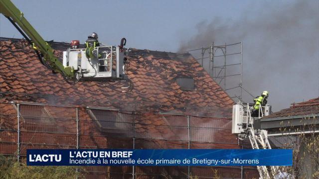 Bretigny-sur-Morrens: incendie à la nouvelle école primaire
