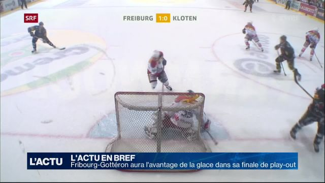Fribourg-Gottéron aura l'avantage de la glace en finale