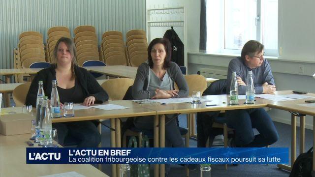 Une coalition fribourgeoise lutte contre les cadeaux fiscaux