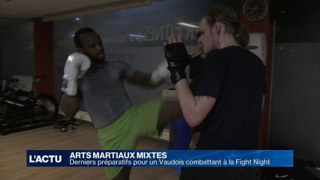Derniers préparatifs pour un Vaudois avant la Fight Night