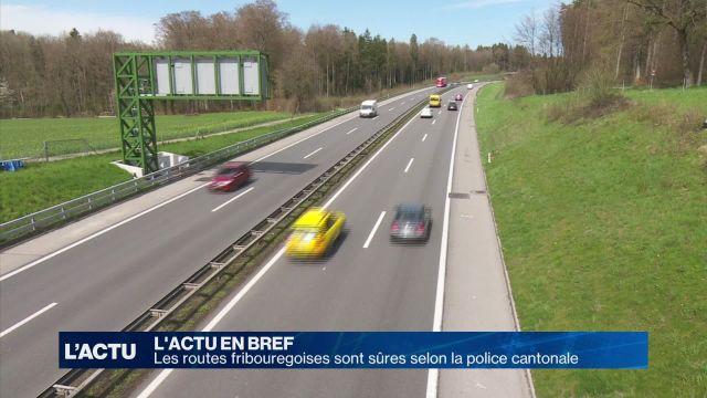 Les routes de Fribourg sont sûres selon la police catonale