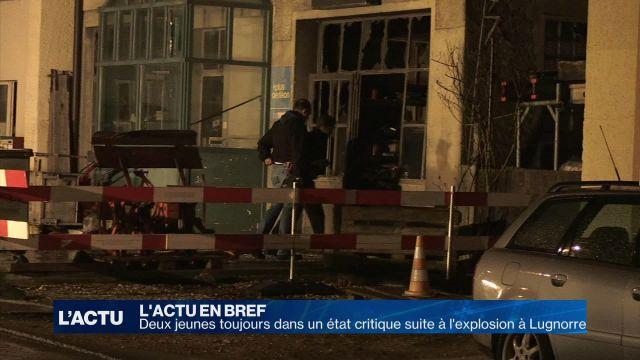 Explosion à Lugnorre: deux jeunes toujours en état critique