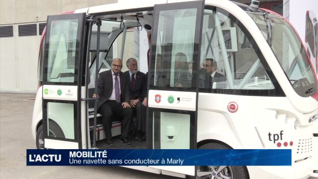 Une navette sans conducteur à Marly