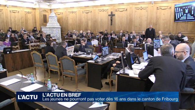 Fribourg: les jeunes de 16 ans ne pourront pas voter