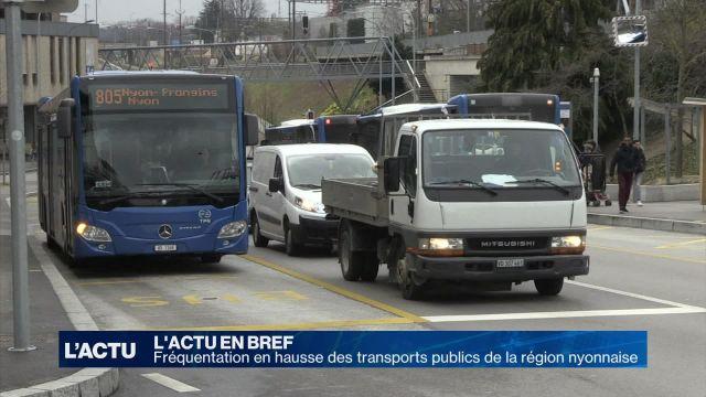 Fréquentation en hausse des transports publics nyonnais