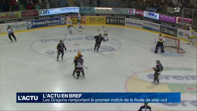 Les Dragons mènent 1-0 en finale de play-out