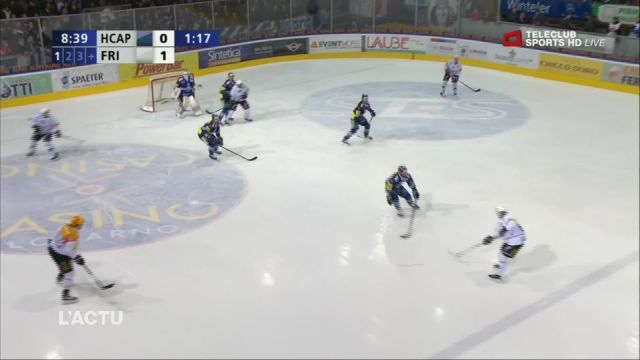 Fribourg-Gottéron bat Ambri 6-1 et mène 2-0 en play-out