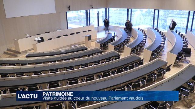 Visite guidée au coeur du nouveau Parlement vaudois