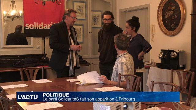 Le mouvement politique SolidaritéS s'implante à Fribourg