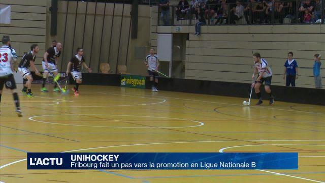 Unihockey : Fribourg fait un pas vers la promotion en LNB