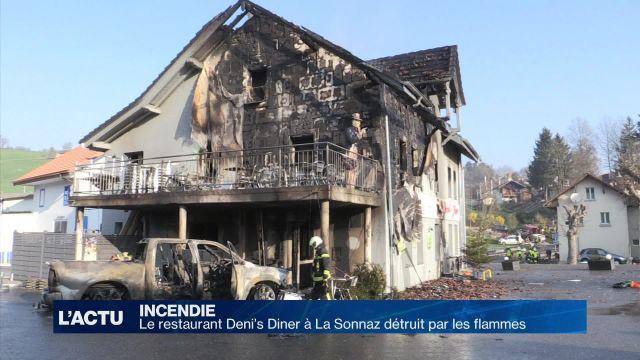 Le Deni's Diner à La Sonnaz détruit par les flammes