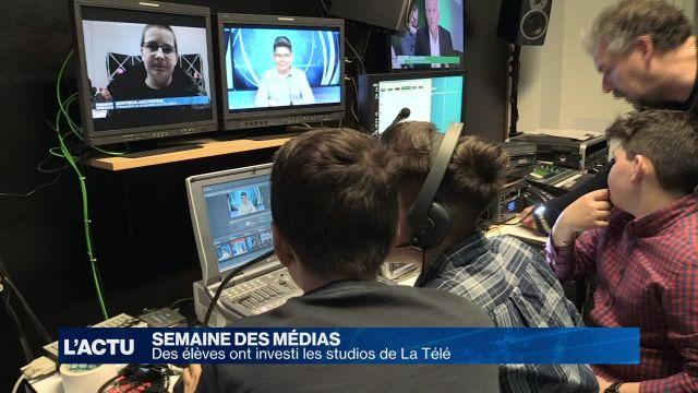 Des élèves ont investi les studios de la Télé