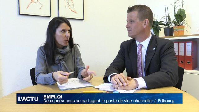 Deux personnes pour un poste de vice-chancelier à Fribourg
