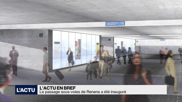 Le passage sous-voies de Renens a été inauguré