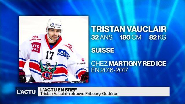 Hockey sur glace: Vauclair est de retour à Fribourg-Gottéron