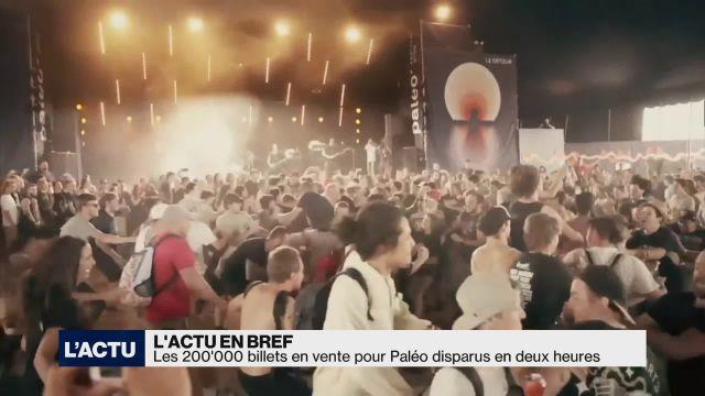 Les 200'000 billets pour Paléo ont disparu en deux heures
