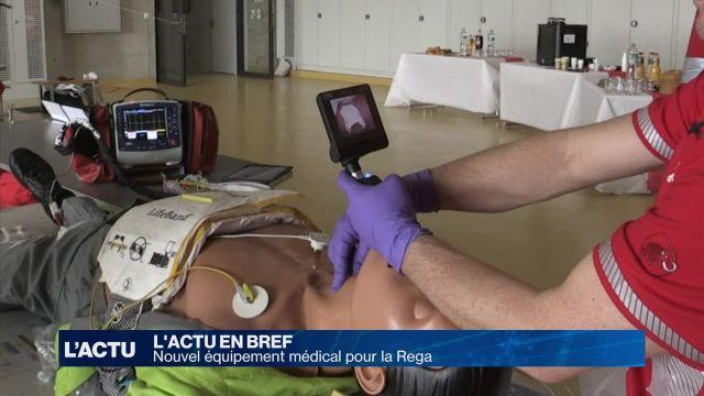 Nouvel équipement médical pour la Rega