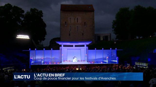 Coup de pouce financier pour les festivals d'Avenches