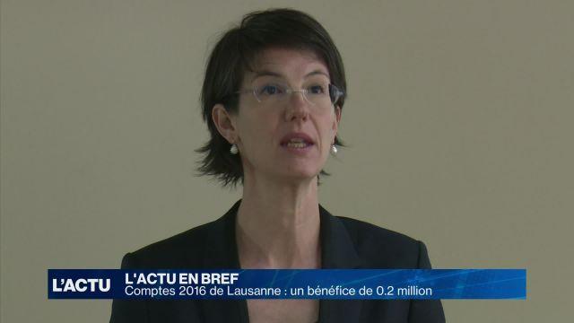 Comptes 2016 de Lausanne : un bénéfice de 200'000 francs