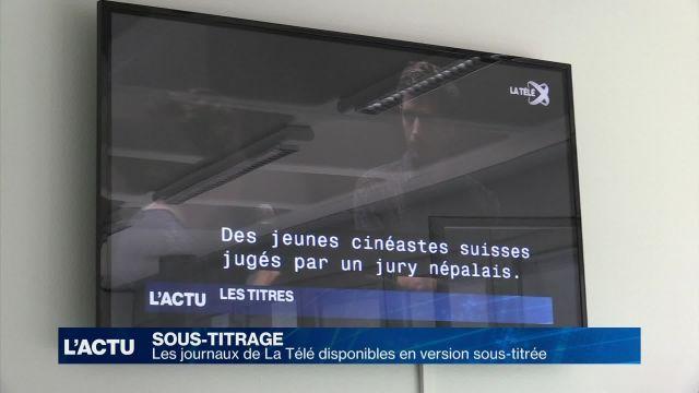 Le journal de La Télé disponible en version sous-titrée