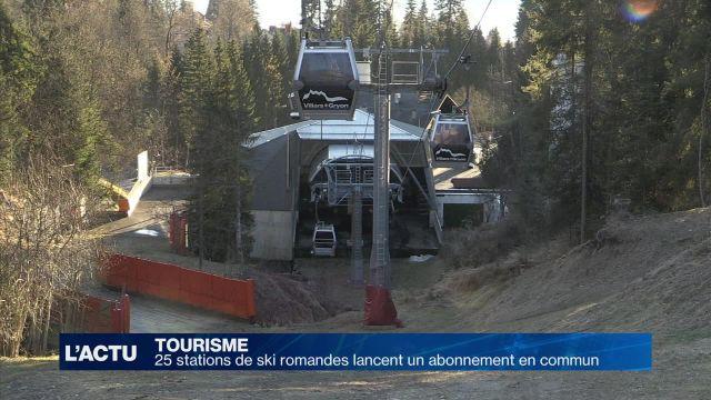 25 stations de ski romandes lancent un abonnement en commun