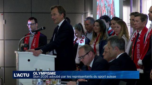 Sion 2026 adoubé par les représentants du sport suisse