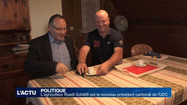L'agriculteur Ruedi Schläfli président cantonal de l'UDC