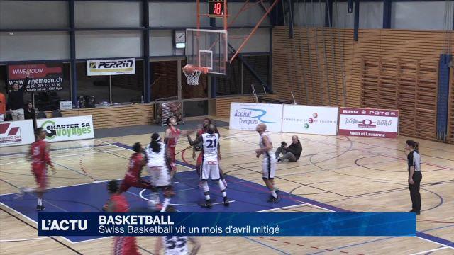 Swiss Basketball vit un mois d'avril mitigé