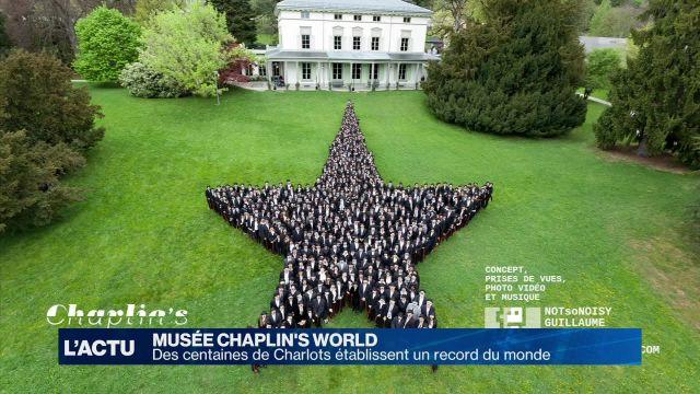 Des centaines de Charlots établissent un record du monde