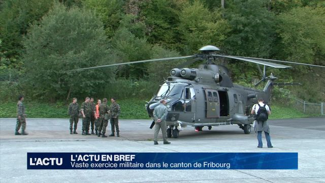 Vaste exercice militaire dans le canton de Fribourg