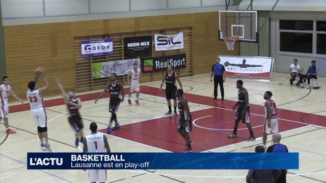 Le BBC Lausanne est en play-off
