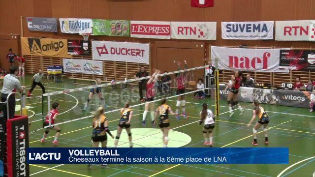 Volley : Cheseaux termine la saison à la 6e place