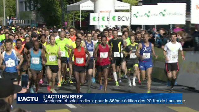 Succès pour la 36ème édition des 20 Km de Lausanne