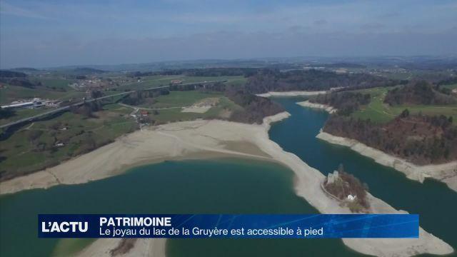 Le joyau du lac de la Gruyère est accessible à pied