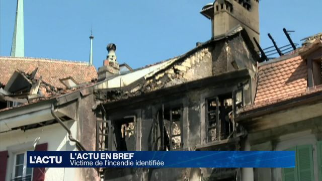 Victime identifiée après l'incendie d'un immeuble